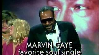 Marvin Gaye wins Favorite Soul Single - AMA 1983