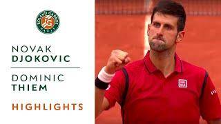 Novak Djokovic v Dominic Thiem Highlights - Men's Semi-Final 2016 | Roland-Garros