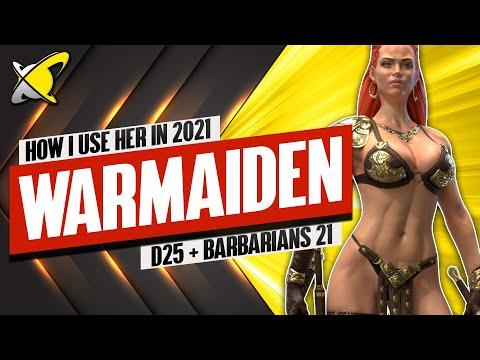 WARMAIDEN IS STILL USEFULL IN 2021!! | My Dragon 25 & Barbarians 21 Teams | RAID: Shadow Legends