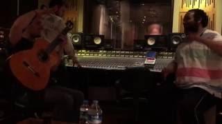 Alper Kargin en estudio de grabacion con Sabu Porrina