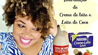 Hidratação de Creme de Leite e Leite de Coco - Cabelo Afro - #MeiTD12
