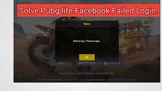 Solve Pubg Lite Failed login in Facebook