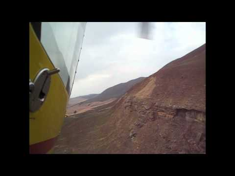 Low altitude Helicoptere race in Drakensberg, South Africa