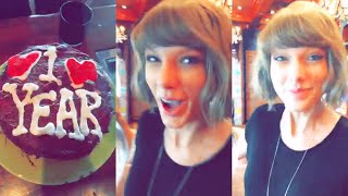 Taylor Swift and Calvin Harris Celebrate Their 1-Year Anniversary with homemade Cake