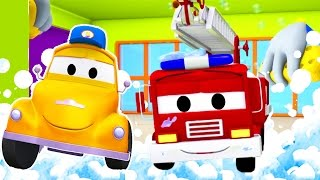 Tom the Tow Truck's Car Wash and Frank the Firetruck | Truck cartoons for kids