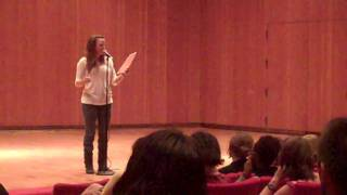 "Sierra DeMulder performs ""Flirt"" at Macalester College"