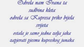 Marko Perkovic Thompson Moj Ivane+ Lyrics