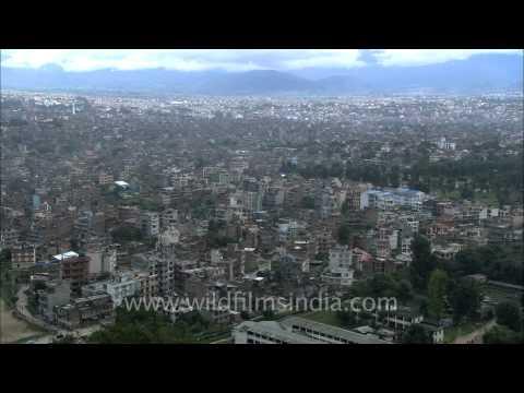 A View of Kathmandu Valley from Swayambhunath Temple AKA Monkey Temple