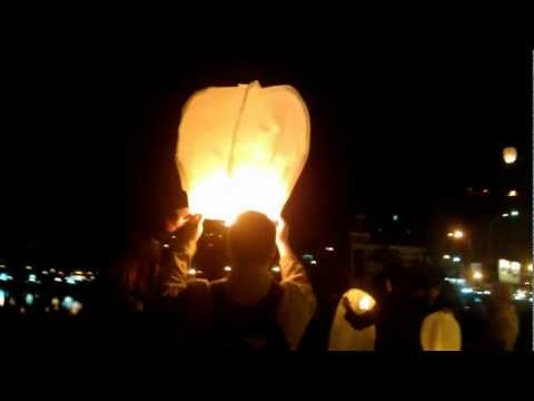 Sky lanterns in Kyiv