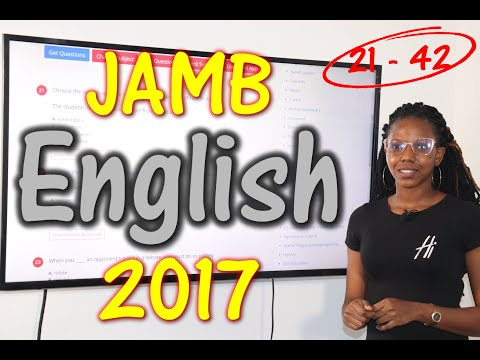 JAMB CBT English 2017 Past Questions 21 - 42