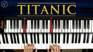 TITANIC Piano Tutorial FÁCIL   My Heart Will Go On Notas Musicales