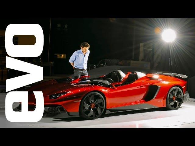 Geneva Motorshow 2012: Lamborghini Aventador J -- private unveiling. Evo magazine exclusive
