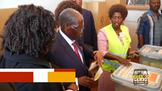 R.G Mugabe votes without his name on the candidates list