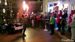 Flair fire show and fire poi bye noah