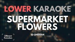 Ed Sheeran - Supermarket Flowers (LOWER Key Karaoke)