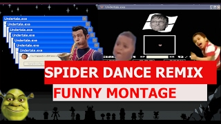 Undertale - Spider Dance Remix - FUNNY MONTAGE
