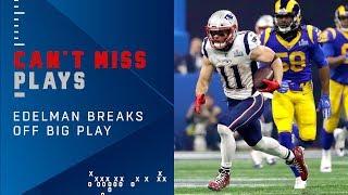 Brady & Edelman's 27-Yard Connection, the Longest Play So Far | Super Bowl LIII Can't-Miss Play