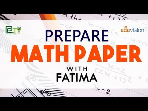 Math Paper Fsc 1st Year with Fatima