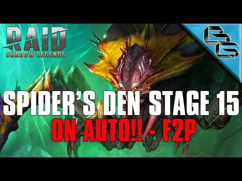 RAID: Shadow Legends | Spider's Den Stage 15 on Auto | COLDHEART FTW!! | F2P