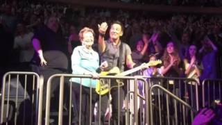 Bruce Springsteen dances to Ramrod with his mother Adele at Madison Square Garden