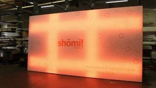 shomi! Animated Programable Full Colour LED SEG Fabric Light Box