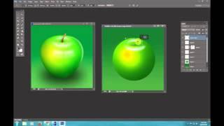 Học Photoshop: Vẽ quả táo