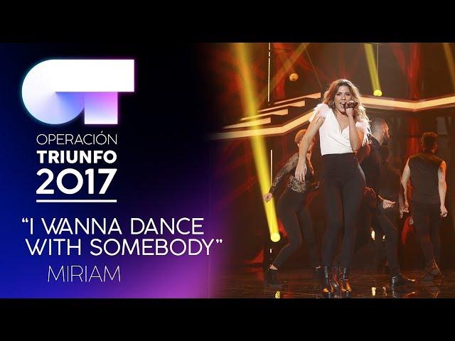 Vídeo de Miriam Rodriguez cantando I wanna dance with somebody