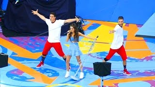 Laura Marano performing Boombox at US Open Arthur Ashe Kids Day, New York
