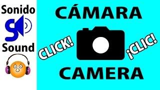 Cámara de fotos, sonido disparo-Camera click sound effect