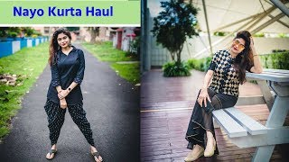 Nayo KURTI HAUL | Try On : Myntra/Jabong Kurti Haul | Office/College/Casual width=