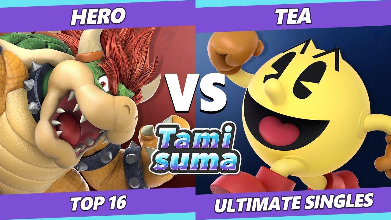 VGBootCamp - TAMISUMA 219 Top 16 - Hero (Bowser) Vs. Tea (Pac-Man) SSBU Smash Ultimate