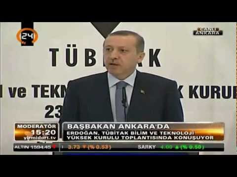 Başbakan Erdoğan. Tam Bağımsızlık için TÜBİTAK'tan savunma projeleri istedi.