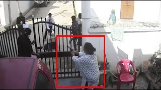 Watch: Lucknow woman opens fire on goons to save husband under attack