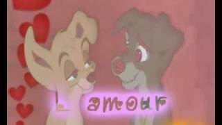 Lady & The Tramp 2 (Scamp & Angel) ~ C'est ca l'amour (with lyrics)