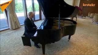 Vladimir Putin plays Macedonian song   Jovano Jovanke