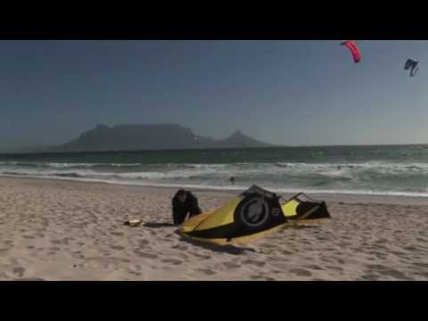 Cape Town Kitesurfing Views of Table Mountain from Bloubergstrand Beach Atlantic Ocean South Africa