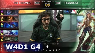 100 vs FLY   Week 4 Day 1 S9 LCS Spring 2019   100 Thieves vs FlyQuest W4D1