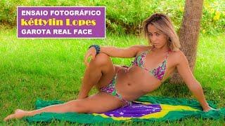 Kéttylin Lopes faz ensaio no Emissário em Santos