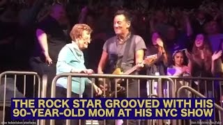 Bruce Springsteen dances with his 90-year-old mom at New York concert
