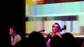 The Books -  Live - cover of Nick Drake's Cello Song