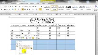 como hacer un calendario en word
