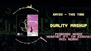 KAYZO - This Time VS Pegboard Nerds - Heartbit (feat. Tia Simone) [MIU Remix] ~ [Duality Mashup]