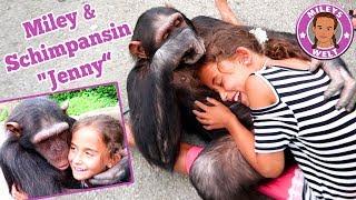 Miley & SCHIMPANSE Jenny - super coole Erfahrung mit einem Affen | Mileys Welt
