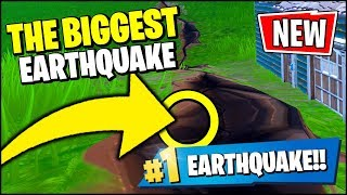 Fortnite *THE BIGGEST* EARTHQUAKE JUST HAPPENED - RIP SALTY (Fortnite Earthquake Event Season 8)