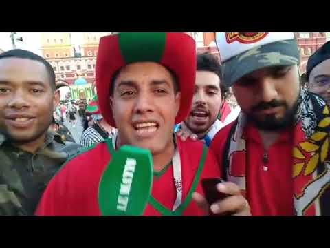 Video : Les Marocains investissent la Place Rouge pour soutenir les Lions
