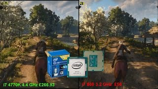 The Witcher 3: Wild Hunt - i7 4770K vs i7 860 [AMD R9 290]