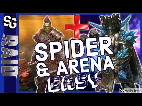 RAID SHADOW LEGENDS | TORMIN + ULT GALEK SPIDERS | ARENA