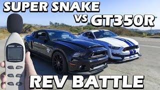 GT350R VS GT500 Super Snake