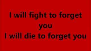 Fight To Forget | Red | Lyrics Onscreen | Of Beauty And Rage | New Song 2015