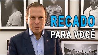 Prefeito João Doria tem um recado de conscientização para o servidor público municipal